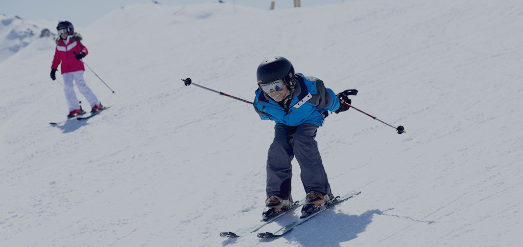 Child on ski in Méribel